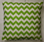 "Cushion Cover in Riley Blake Chevron Green White Stripe 14"" 16"" 18"" 20"""